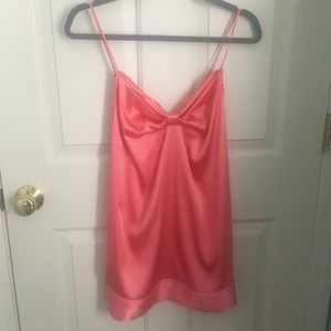 Victoria's Secret Silky Pink Bow Chemise